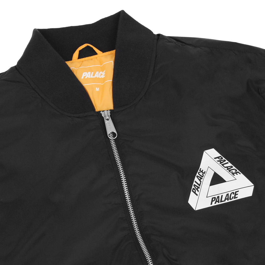Palace Thinsulate Bomber Jacket in Anthracite - Detail