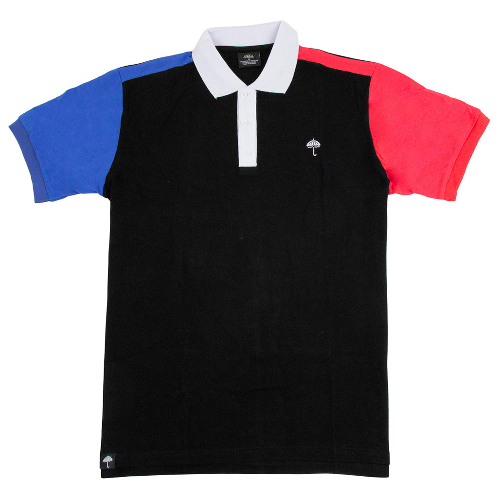 Helas Quatro Inferno Polo Shirt in Black / Navy / Red / White