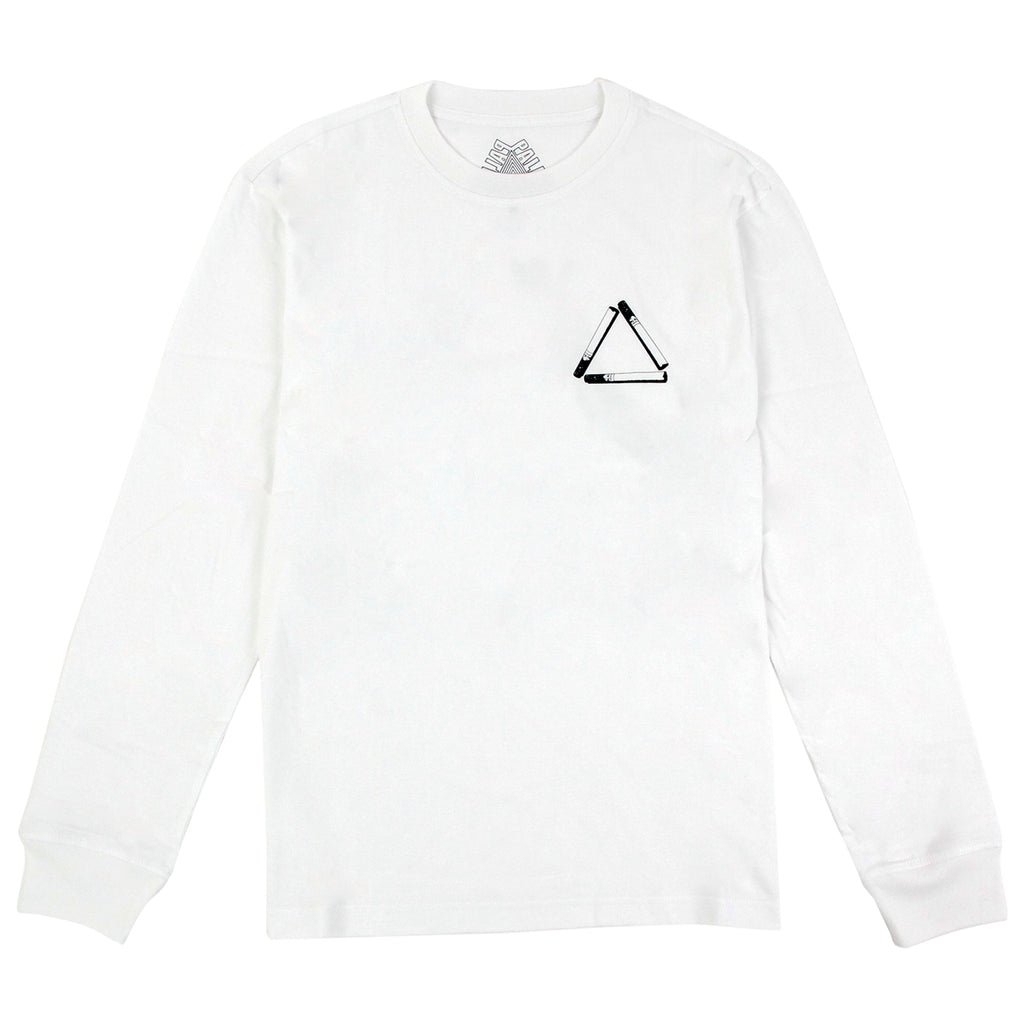 Palace Tri Smoke L/S T Shirt in White