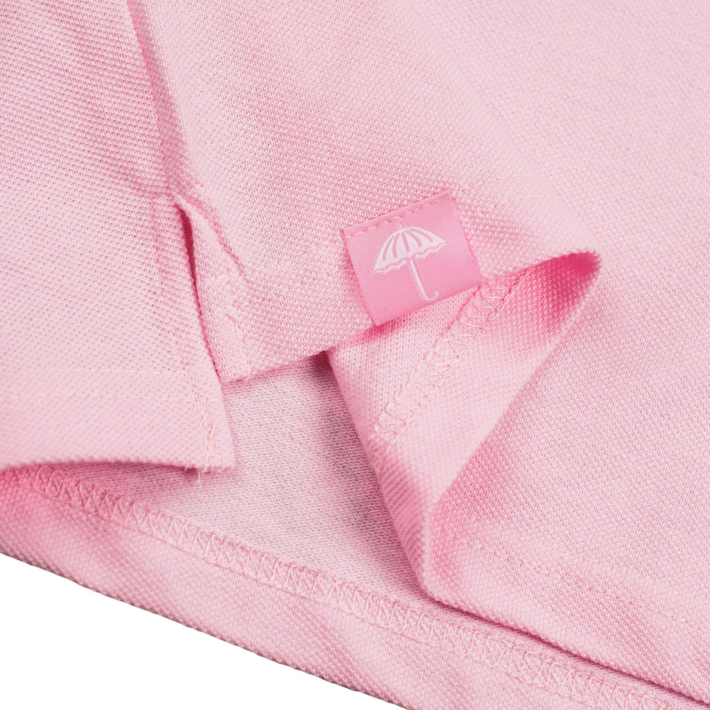 Helas Classic Polo Shirt in Pastel Pink - Label