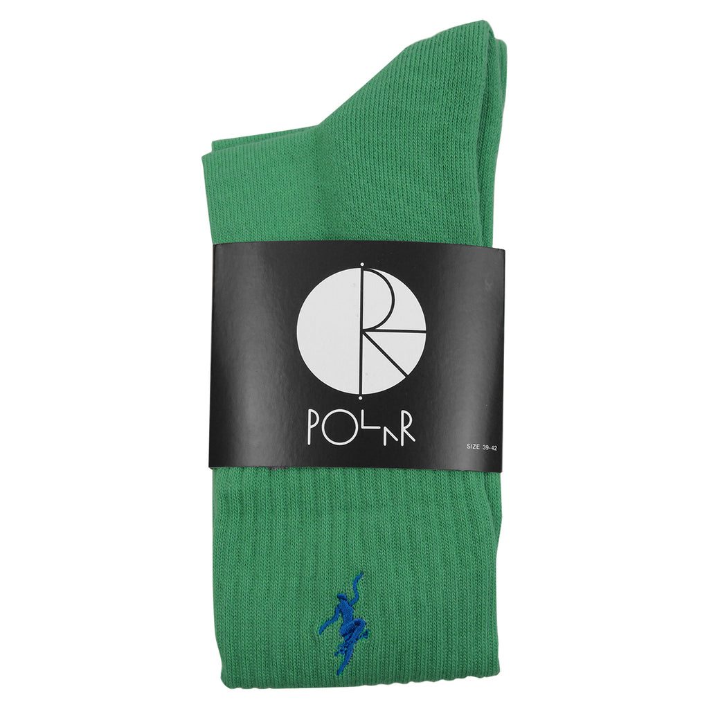 Polar Skate Co No Comply Socks in Sport Green / Blue