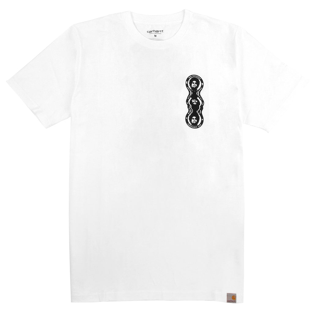 Carhartt WIP MMC Triple Logo T Shirt in White / Black - Front