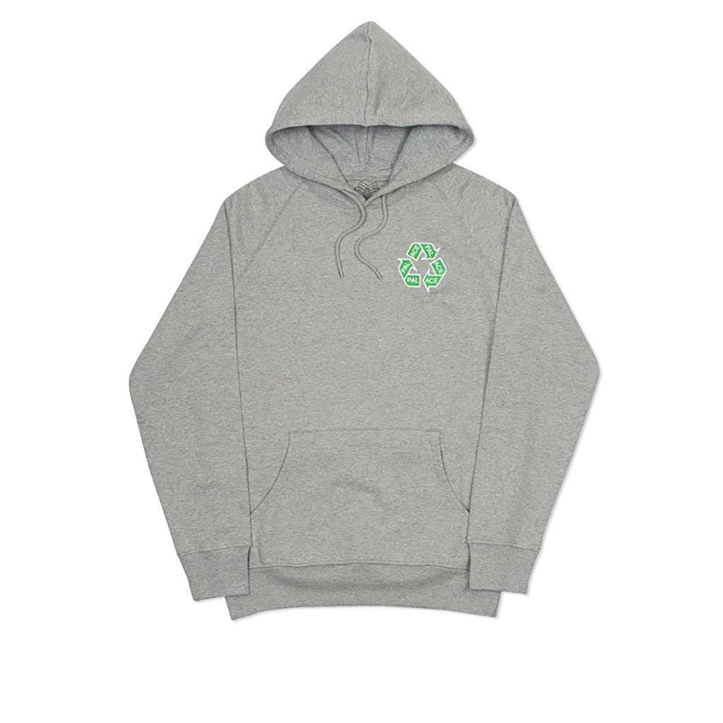 Palace P Cycle Hoodie in Grey Marl - Front