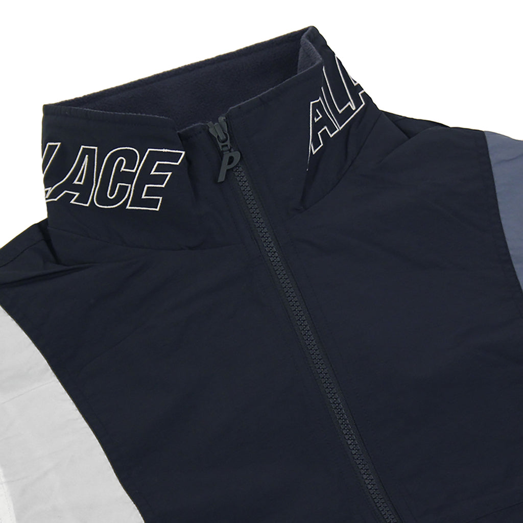 Palace Arms Jacket in Blue Nights / Flintstone / White - Detail