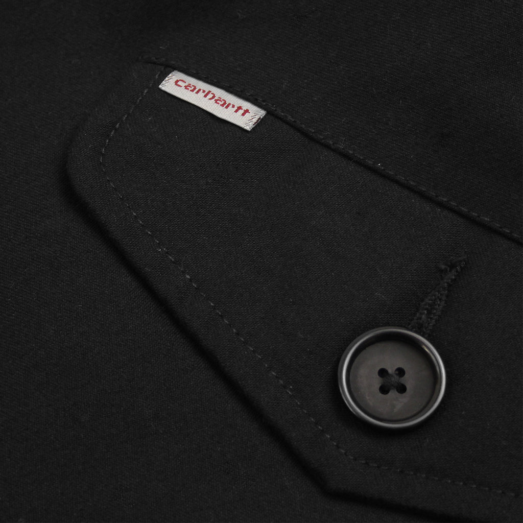 Carhartt WIP Harris Trenchcoat in Black - Label