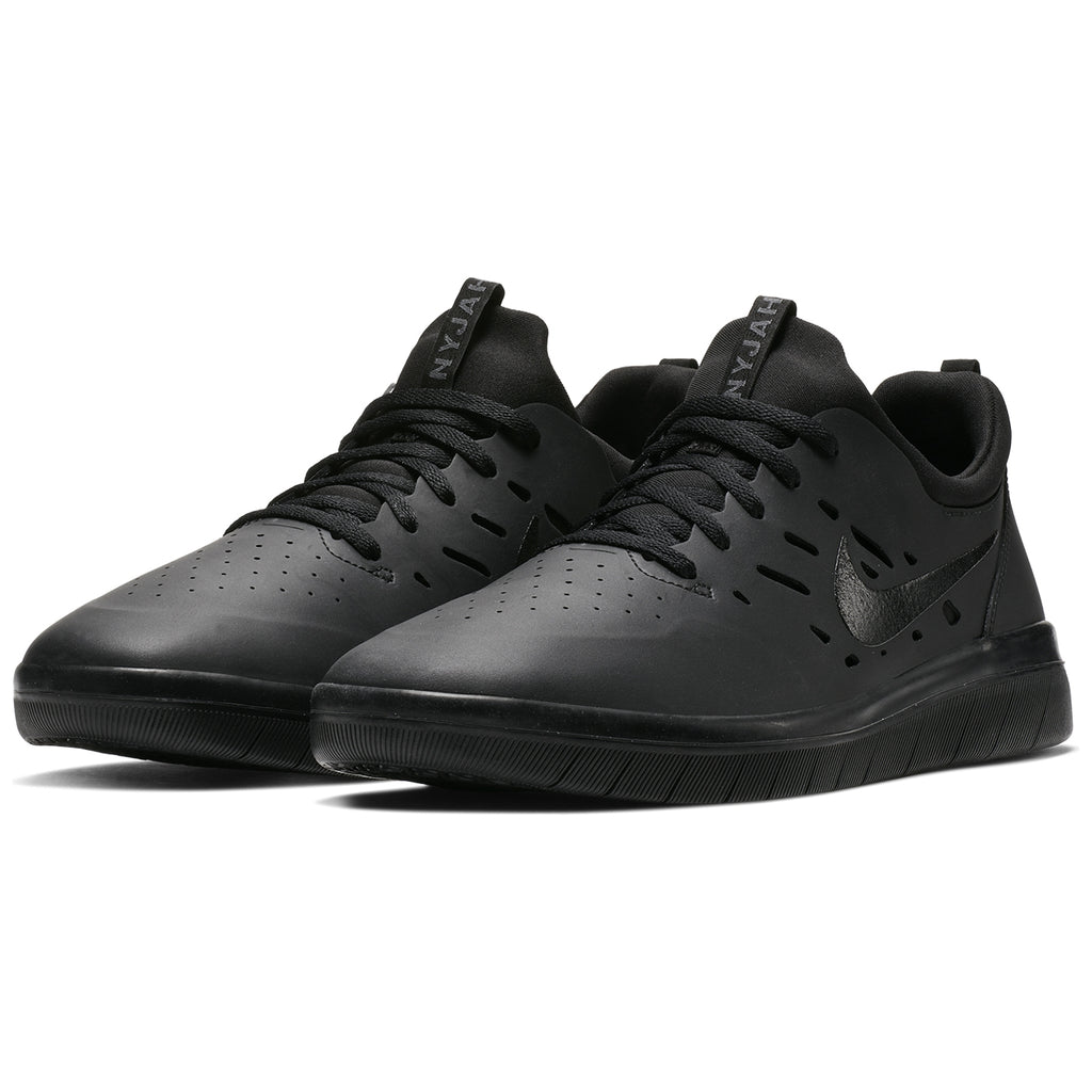 Nike SB Nyjah Free Shoes in Black / Black - Black - Pair