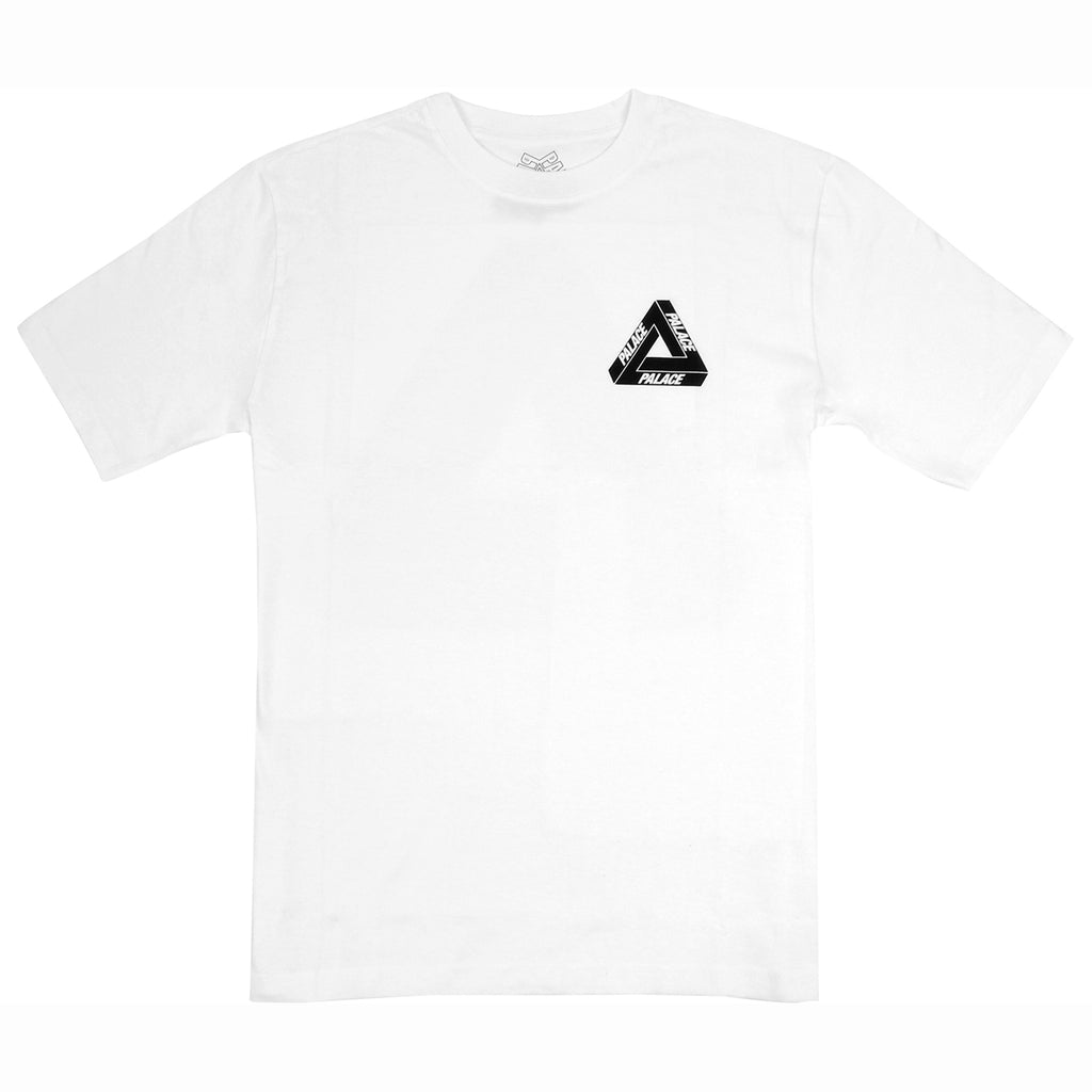 Palace Drury Yard T Shirt in White - Front