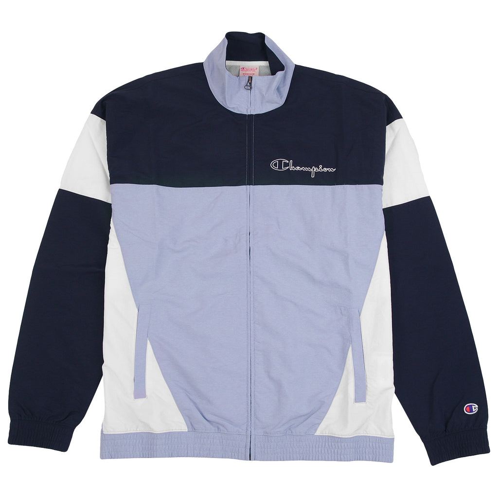Champion Reverse Weave Colour Block Track Top in Lilac / Navy / White