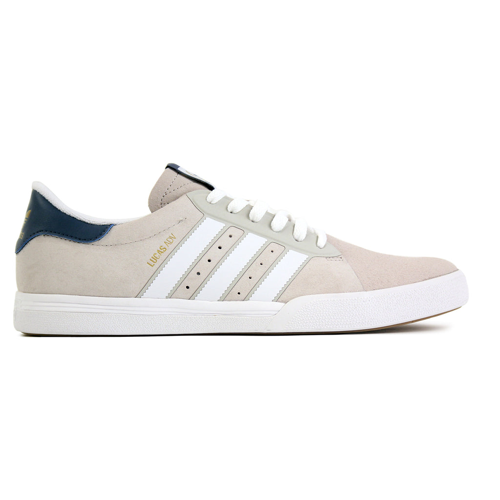 Adidas Skateboarding Lucas ADV Shoes in Footwear White/Mist Stone/Fade Ink