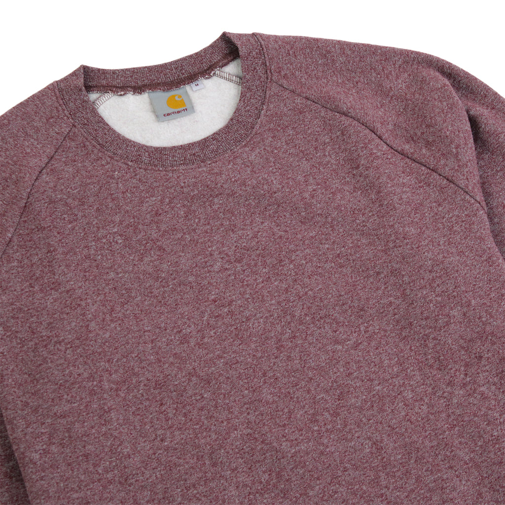 Carhartt Holbrook Sweatshirt in Chianti Noise Heather - Detail