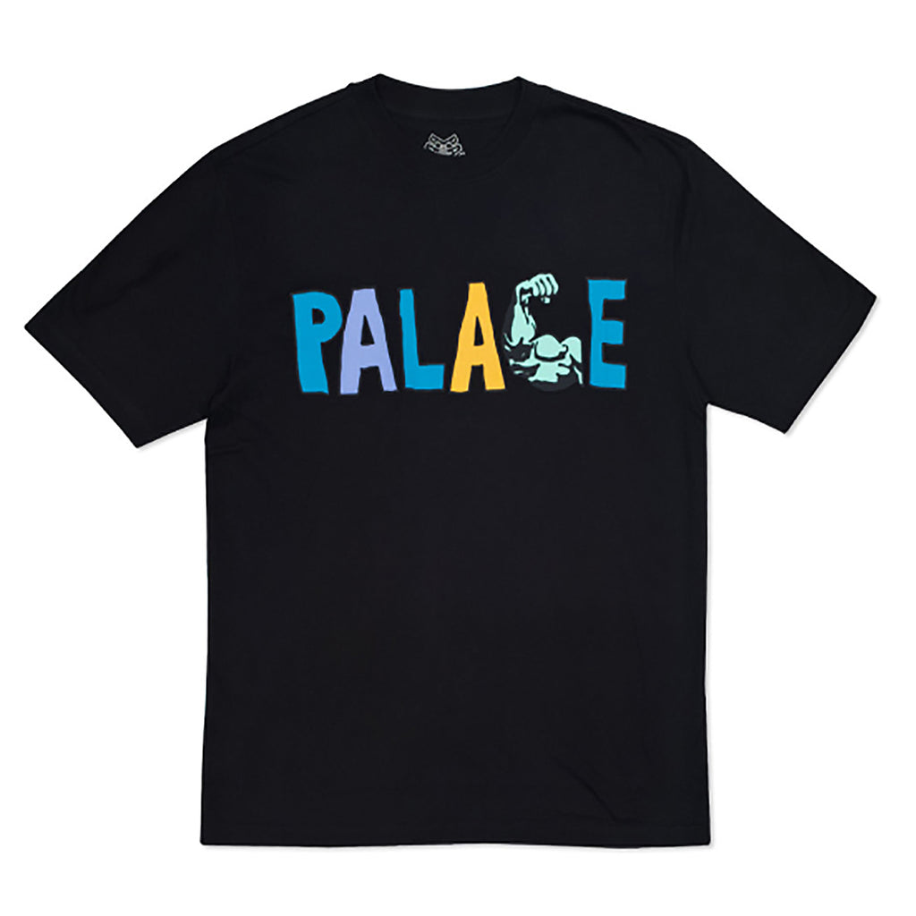 Palace Muscle T Shirt in Black