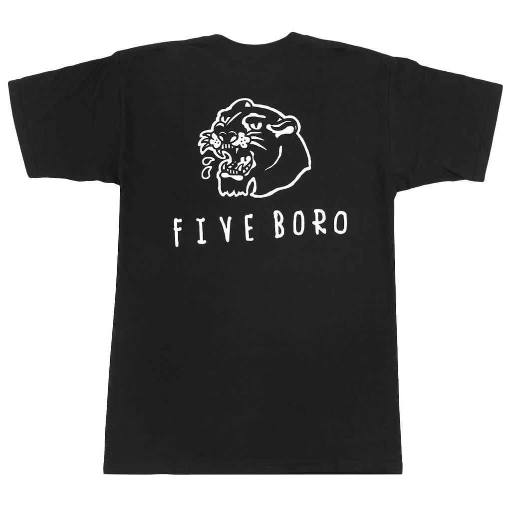 5Boro Panther T Shirt in Black