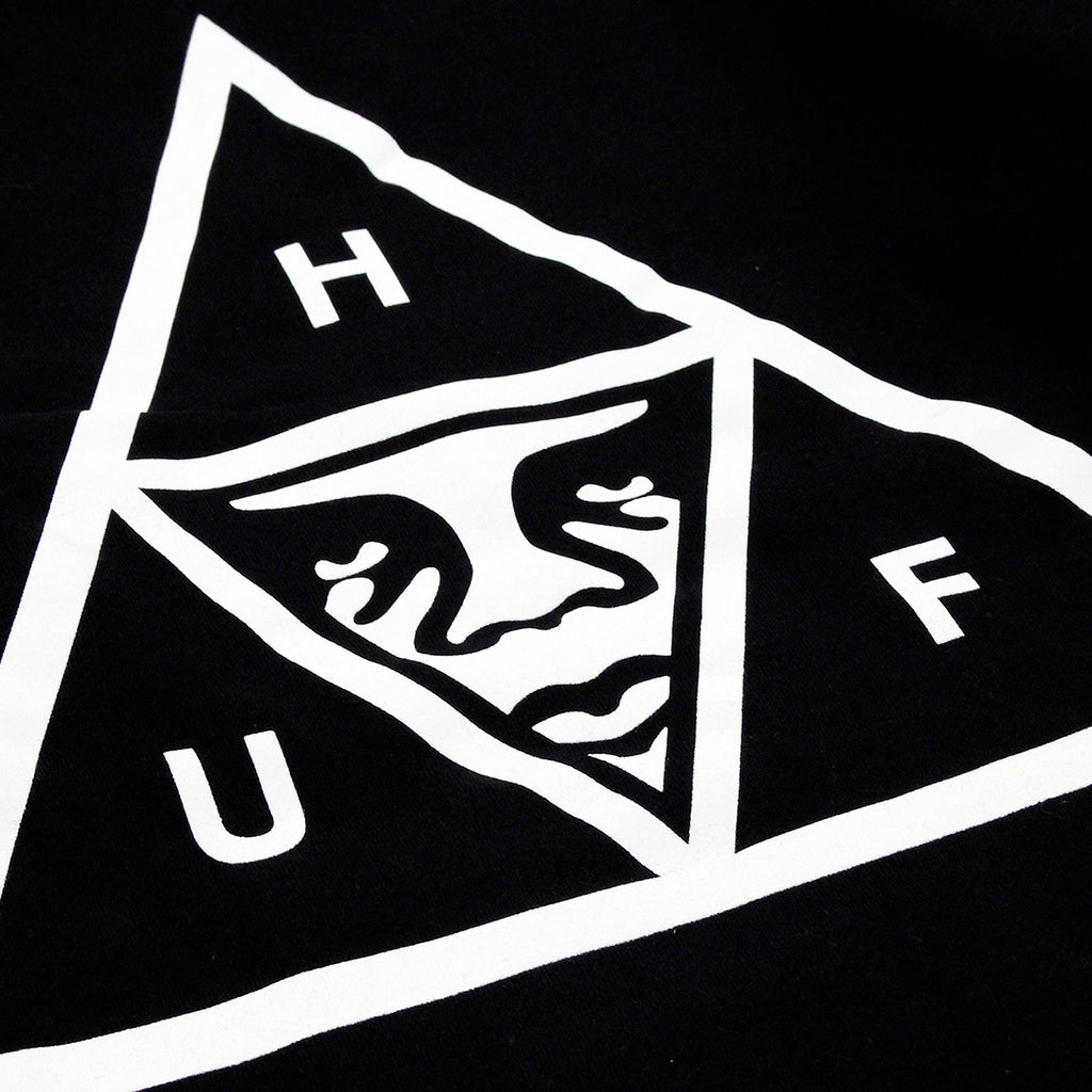 HUF x Obey Triple Triangle Hoodie in Black - Print detail