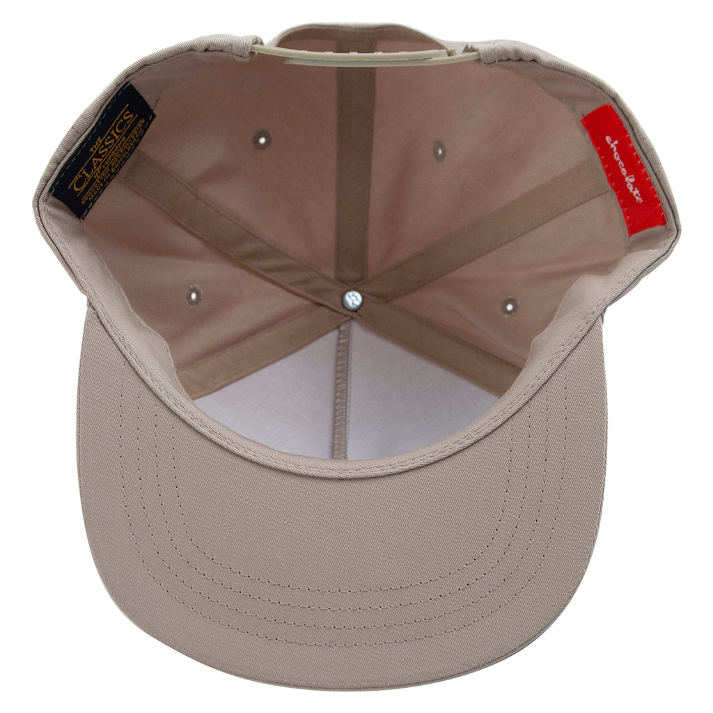 Chocolate Muse 5 Panel Cap in Khaki - Inside