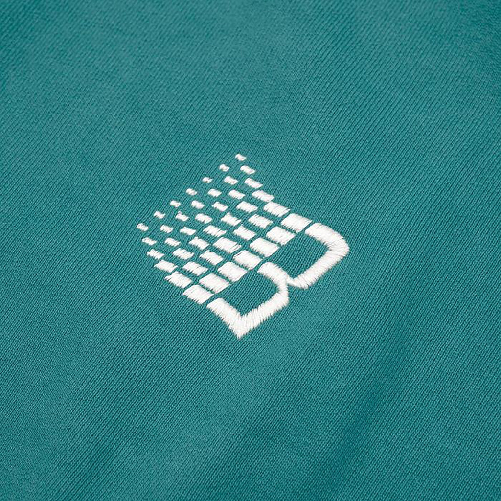 Bronze 56k Embroidered B Logo Crewneck in Teal - Embroidery