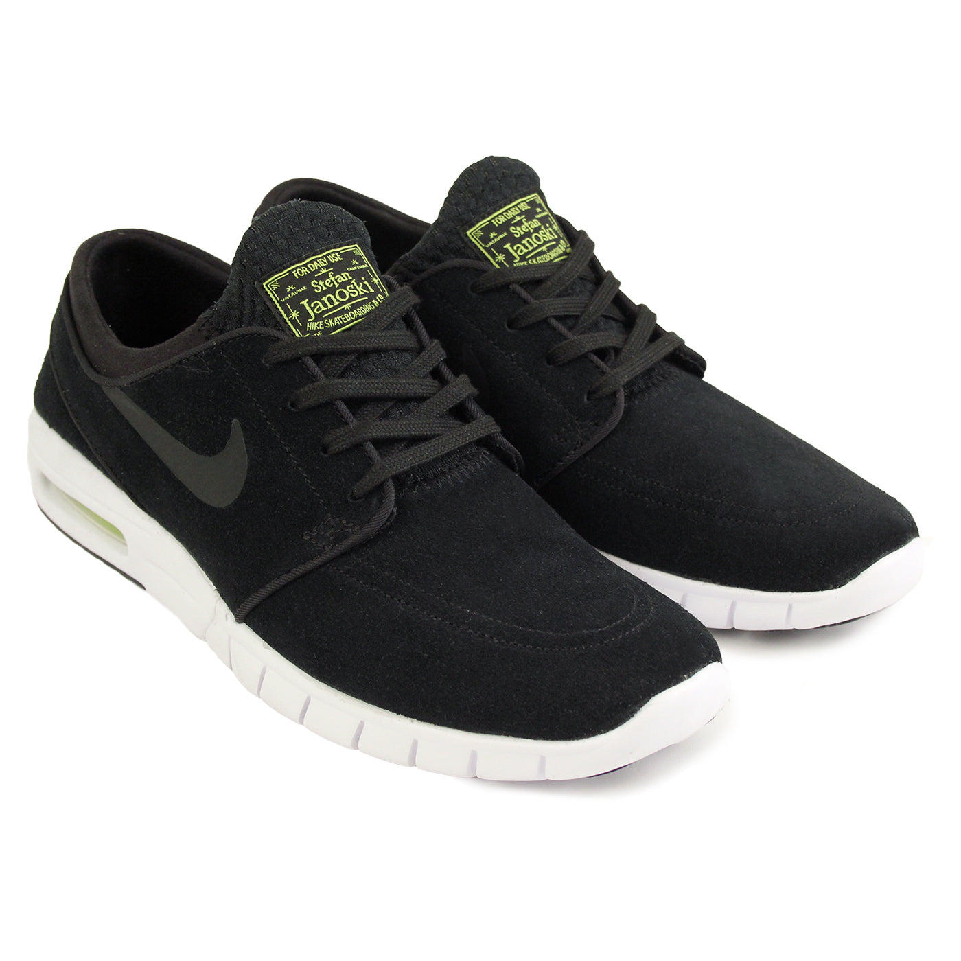 new products dadec 9acd0 Nike SB Stefan Janoski Max L Shoes - Black   Black   Cyber   White. Size  Charts