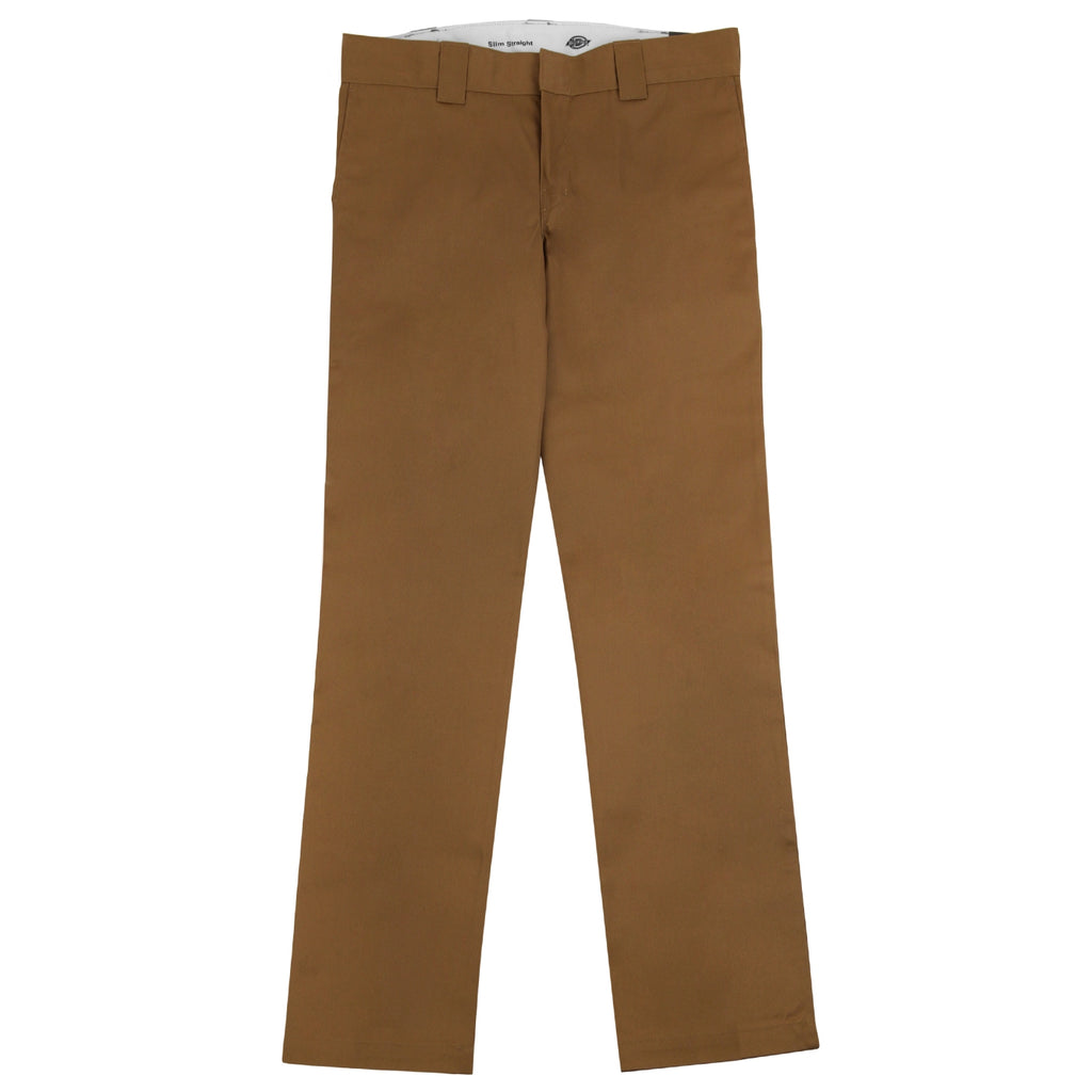 Dickies 873 Slim Straight Work Pant in Brown Duck - Open