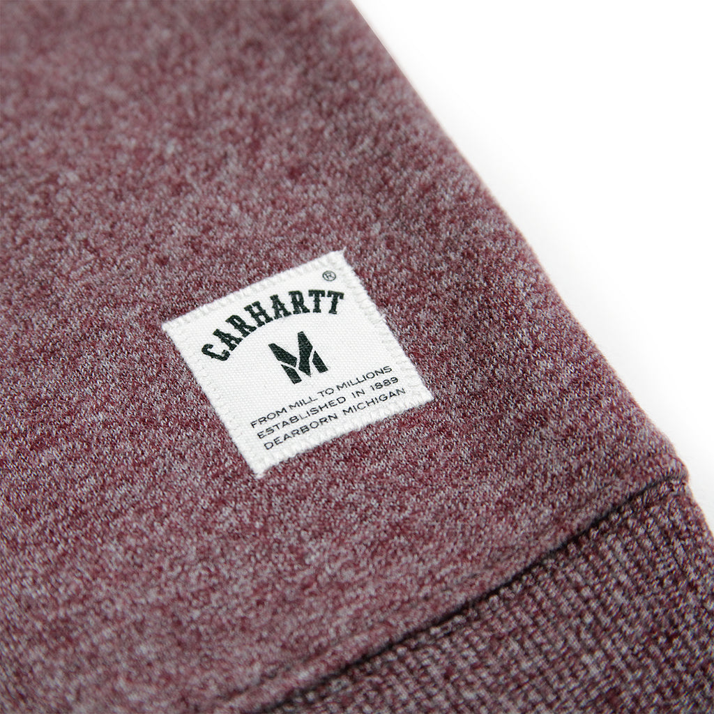 Carhartt Holbrook Sweatshirt in Chianti Noise Heather - Label