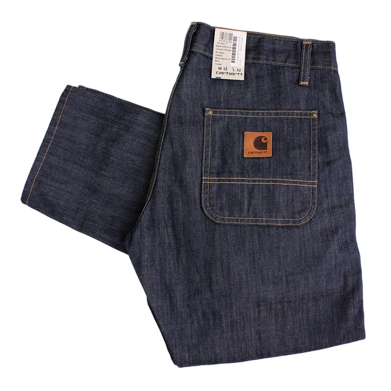 Carhartt WIP Lincoln Simple Pant in Blue / Rinsed