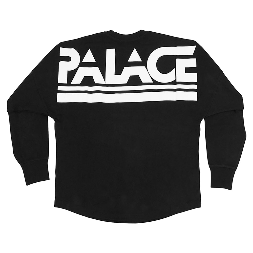 Palace Lightweight Crew Sweatshirt in Black - Back