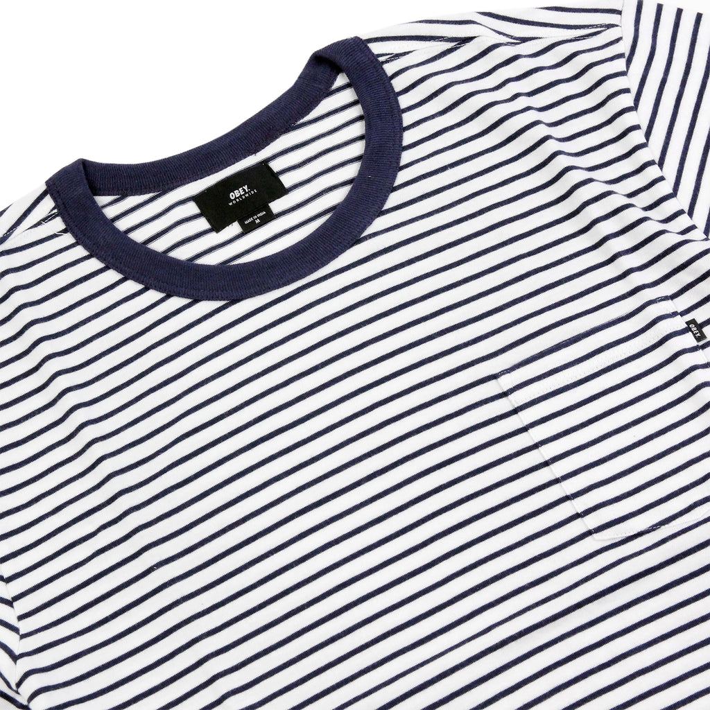 Obey Clothing Richmond Pocket T Shirt in Navy / Multi - Detail