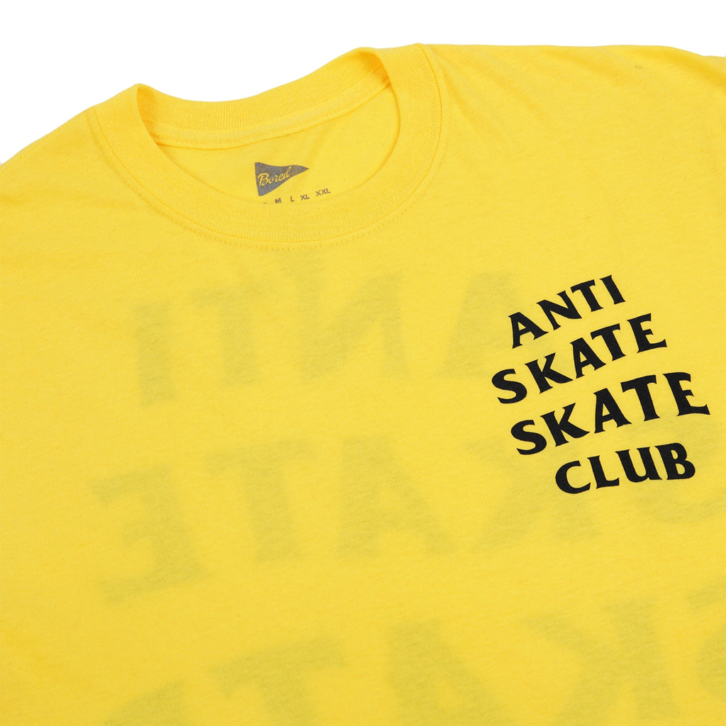 Bored of Southsea Anti Skate Club T Shirt in Yellow - Detail