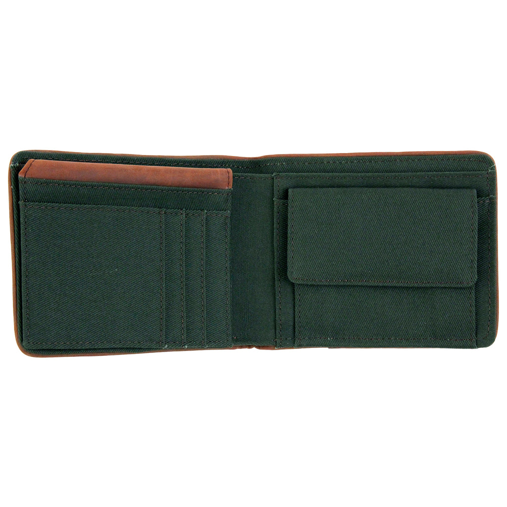 Dickies Edmore Wallet in Olive Green - Open