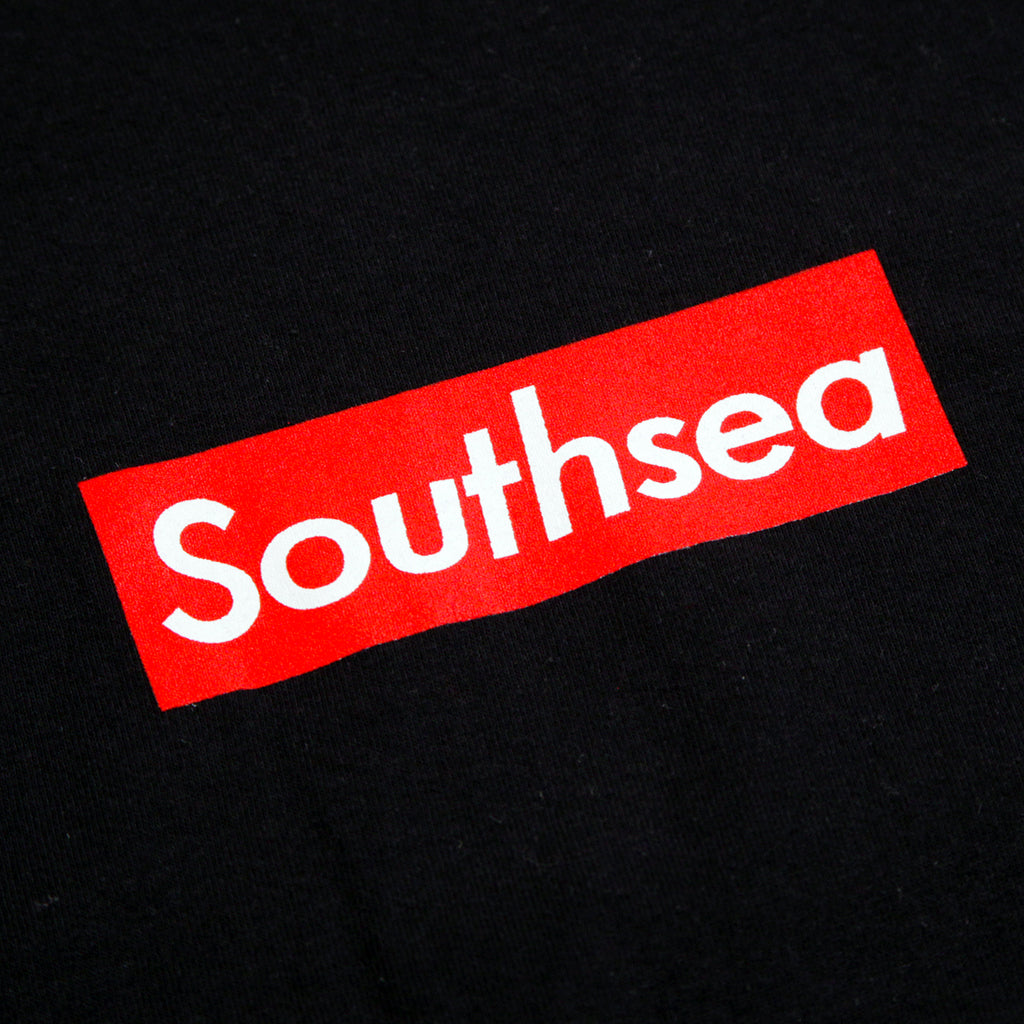 "Bored of Southsea ""Southsea"" L/S T Shirt in Black / Red Box - Print"