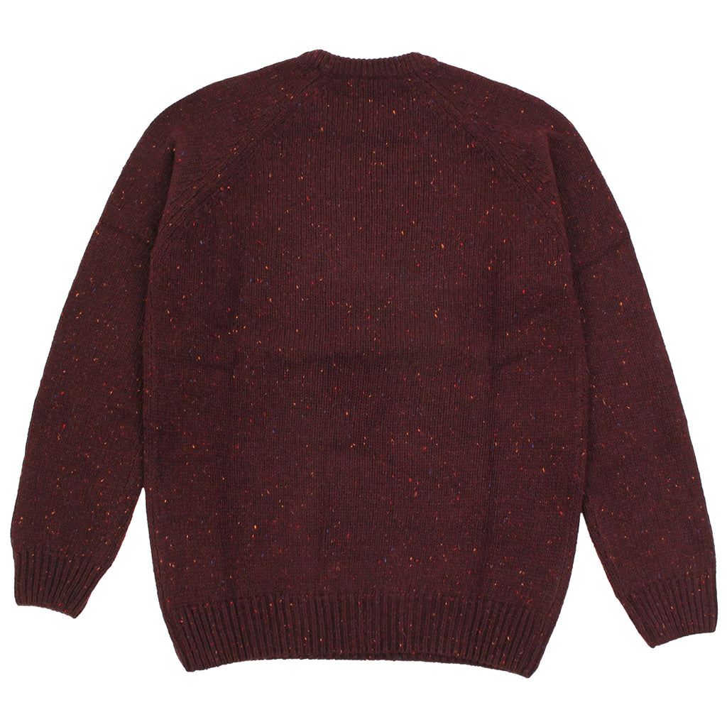 Carhartt Anglistic Sweater in Damson Heather - Back