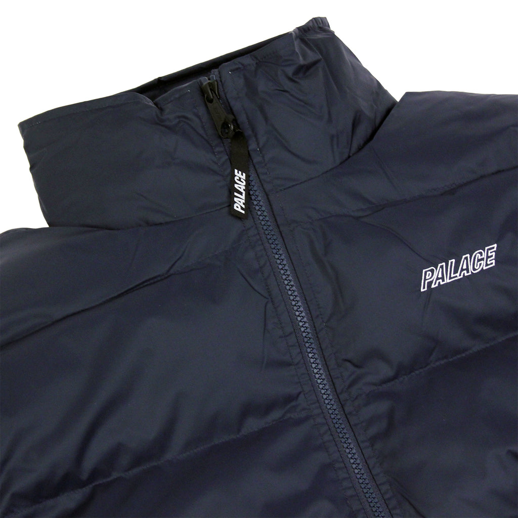 Palace Puffa Jacket in Blue Nights / Flinstone - Detail