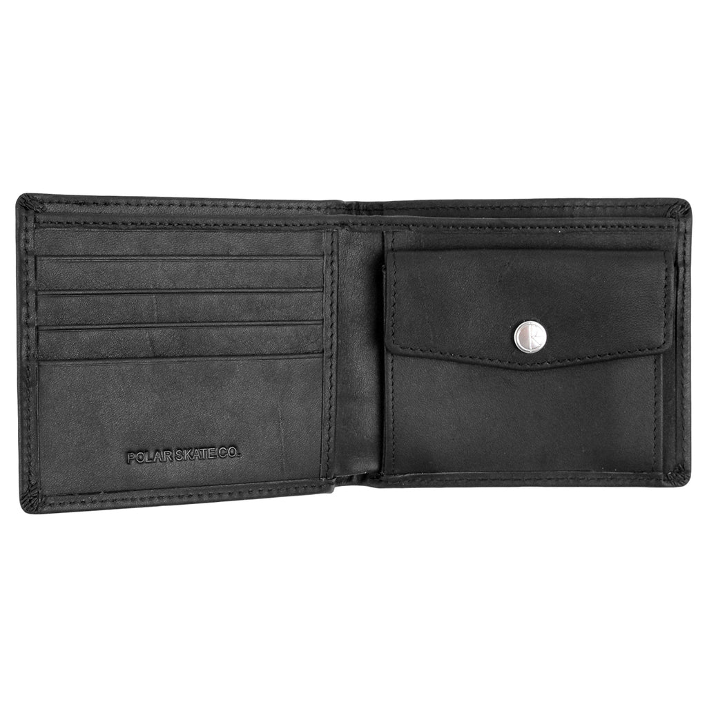 Polar Skate Co No Comply Wallet in Black - Open