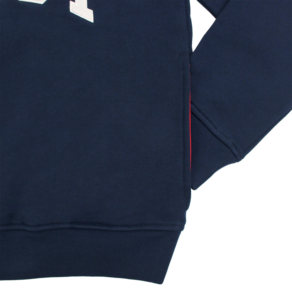 Stussy Fleece Mock Neck in Navy - Sleeve