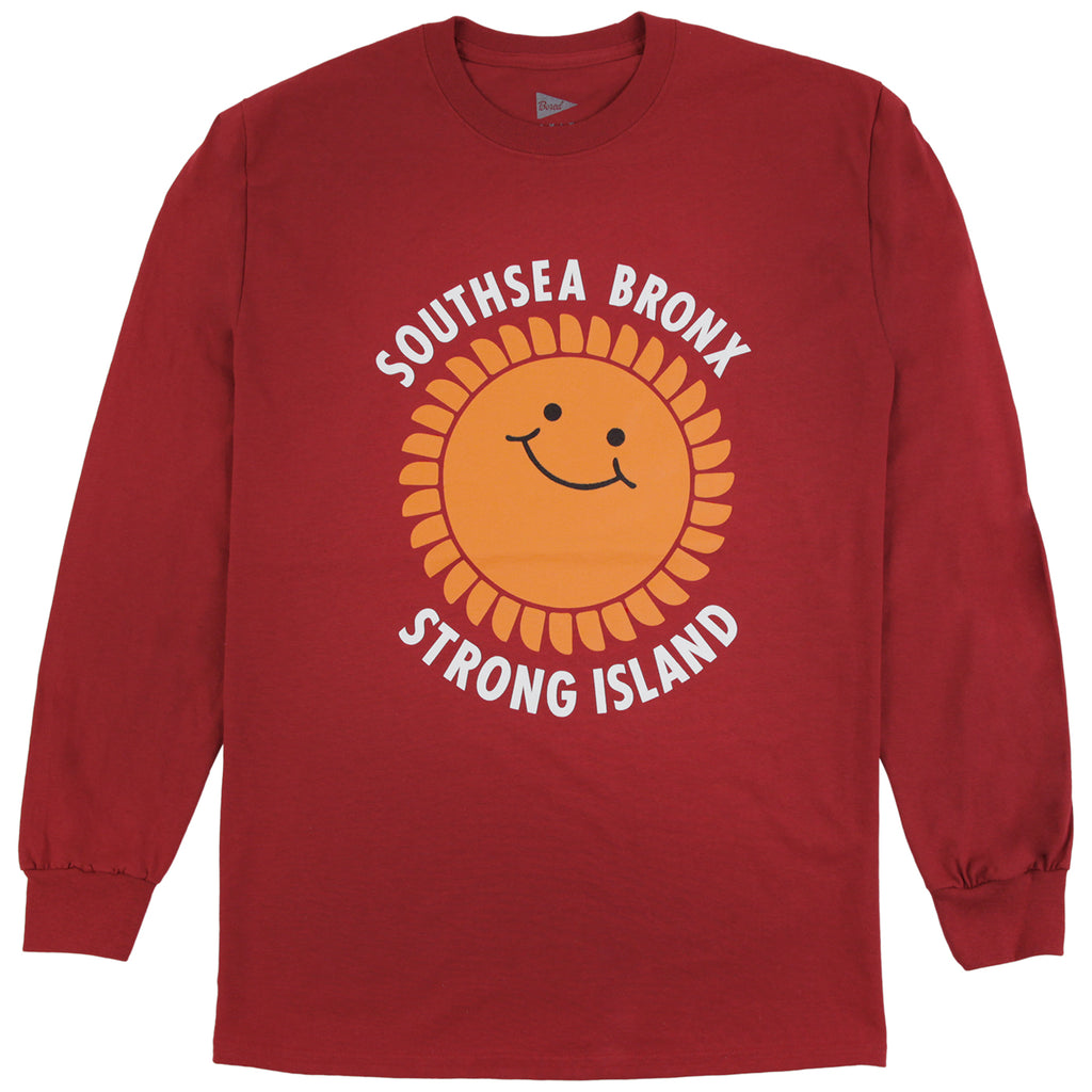 Southsea Bronx Strong Island L/S T Shirt in Cardinal