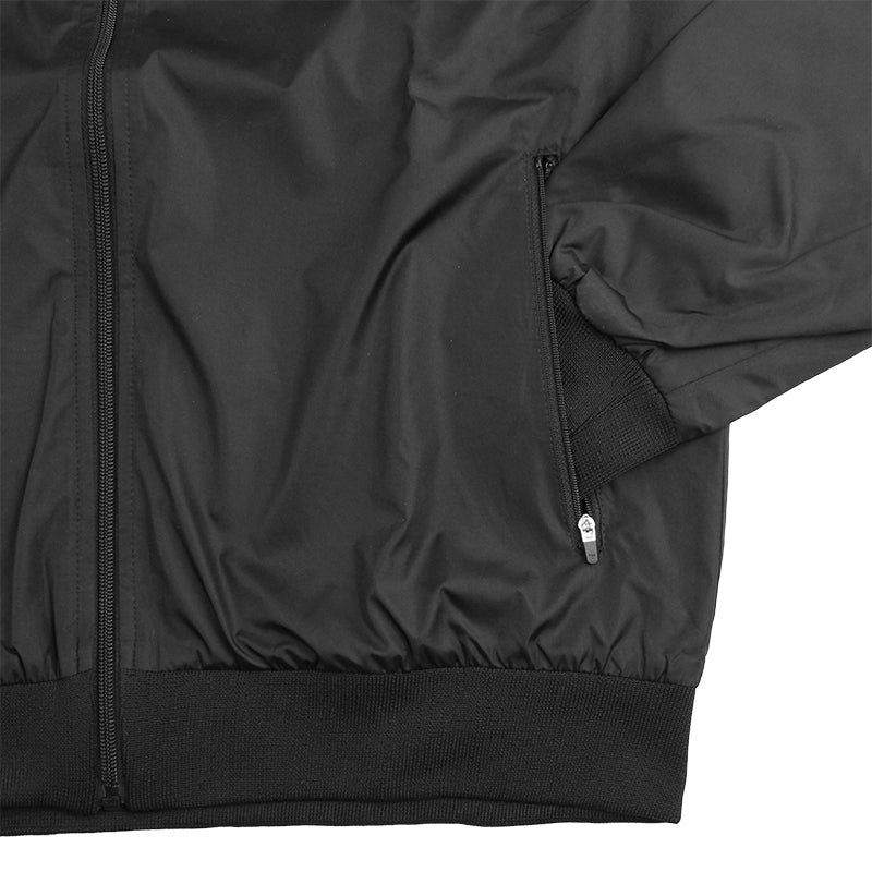 Polar Skate Co Fill Logo Chest Windbreaker Jacket in Black / White - Sleeve