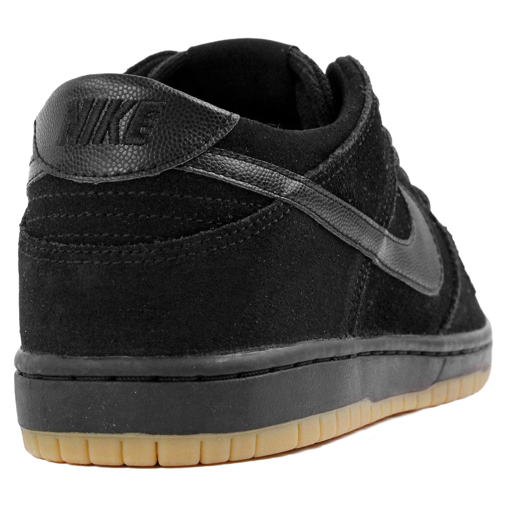 Nike SB Dunk Low Pro Ishod Wair Shoes in Black / Black-Gum Light Brown - Heel