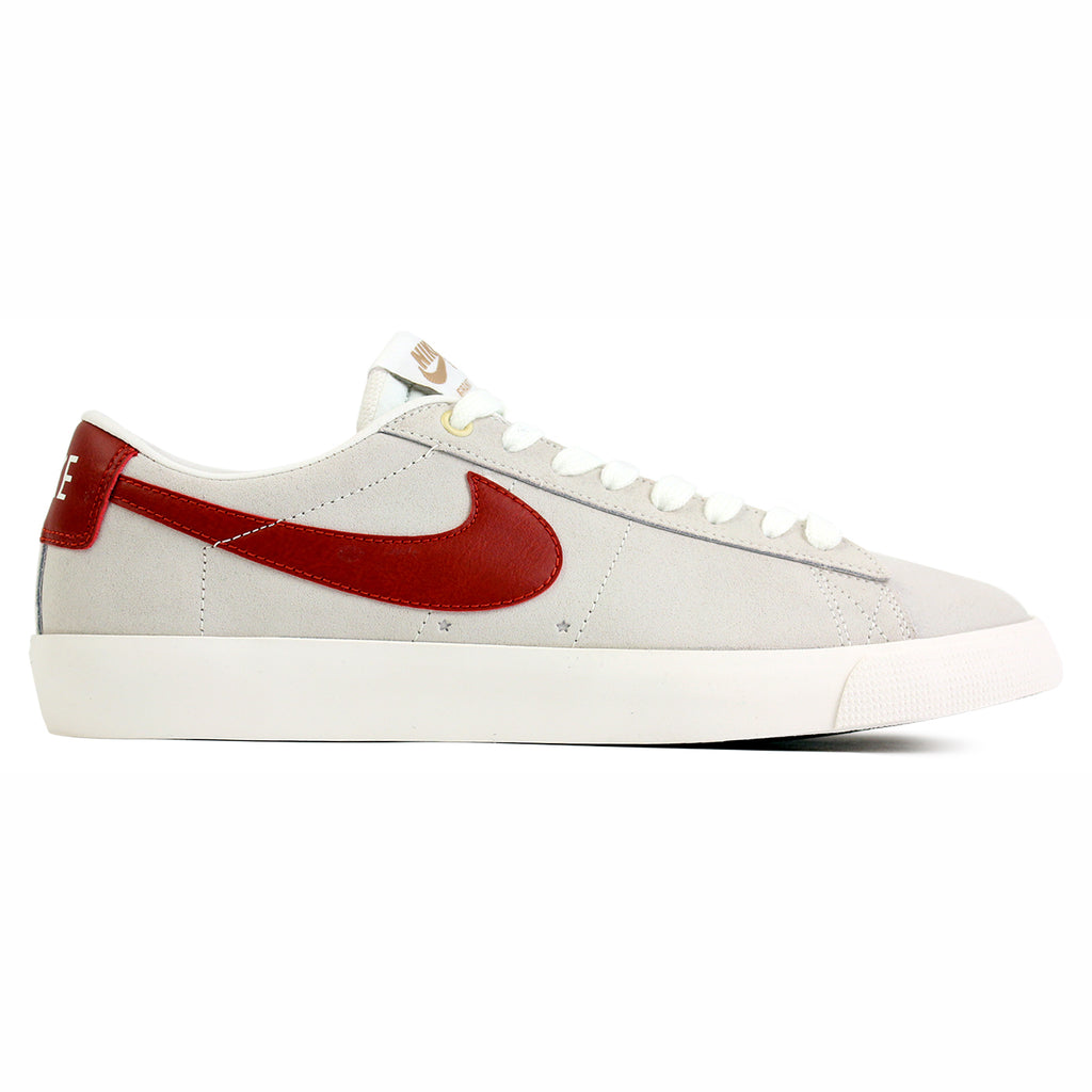 Nike SB Blazer Low Grant Taylor Shoes in Ivory / Cinnabar