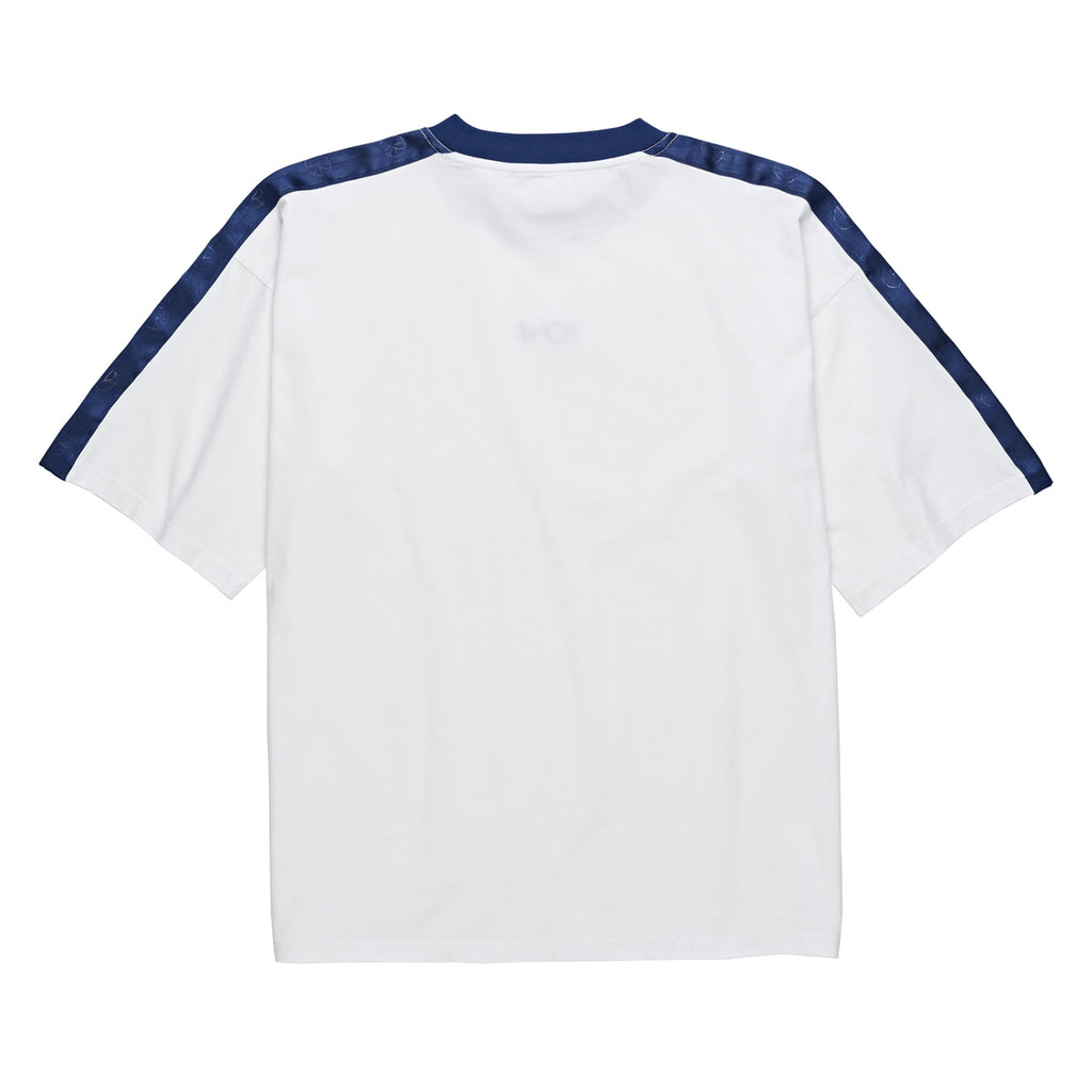 Polar Skate Co Tape Surf T Shirt in White / Navy - Back