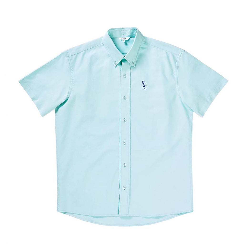 Polar Skate Co PSC Short Sleeve Oxford Shirt in Mint