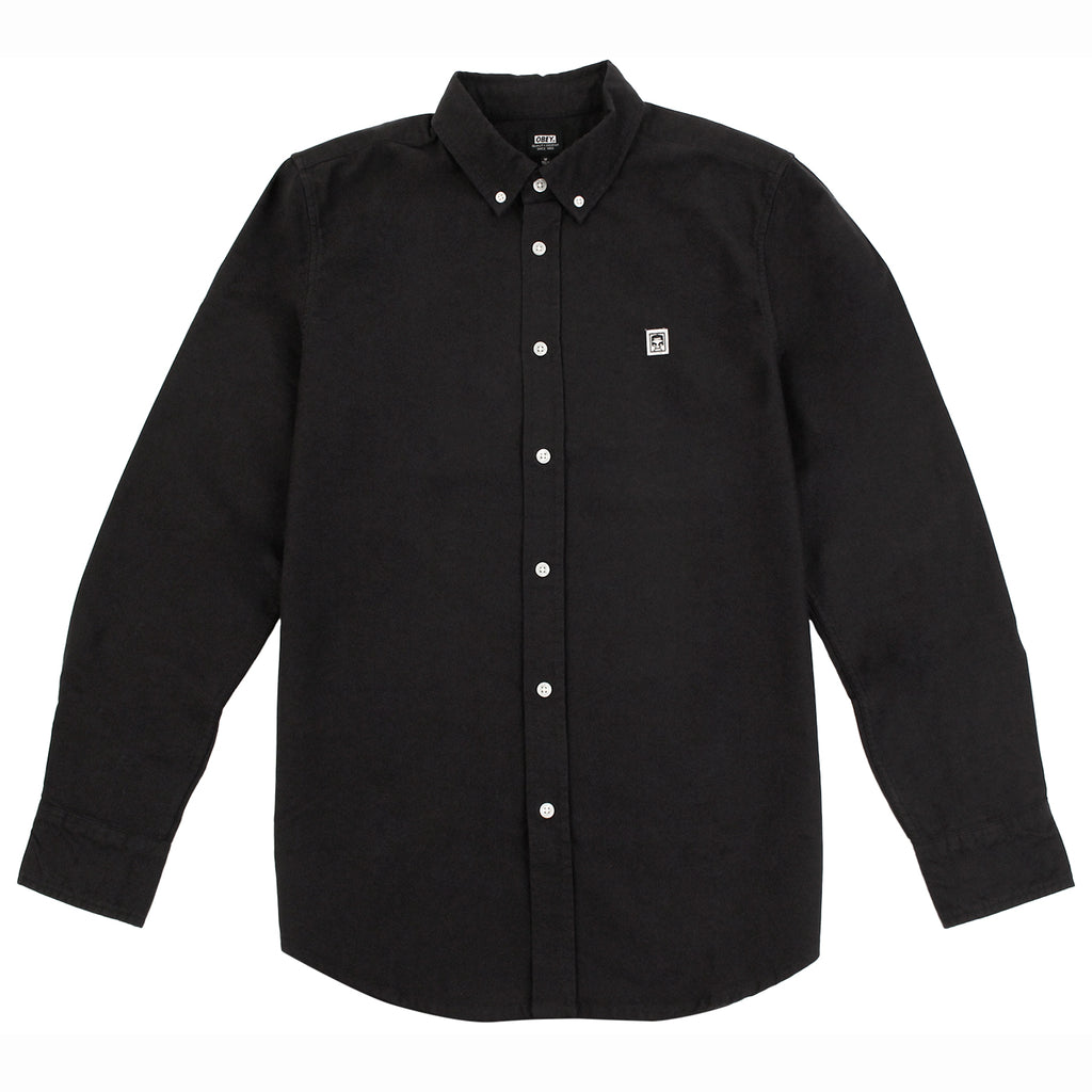Obey Clothing Eighty Nine Woven Long Sleeve Shirt in Black