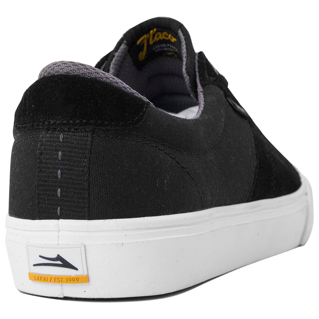 Lakai Flaco Shoes in Black / Grey - Heel