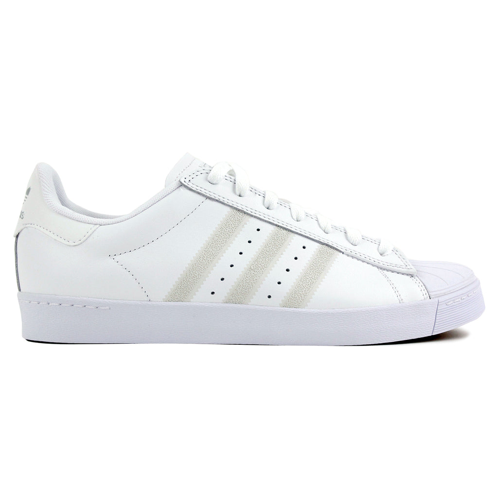 Adidas Skateboarding Superstar Vulc Shoes - White / White / Silver Metallic