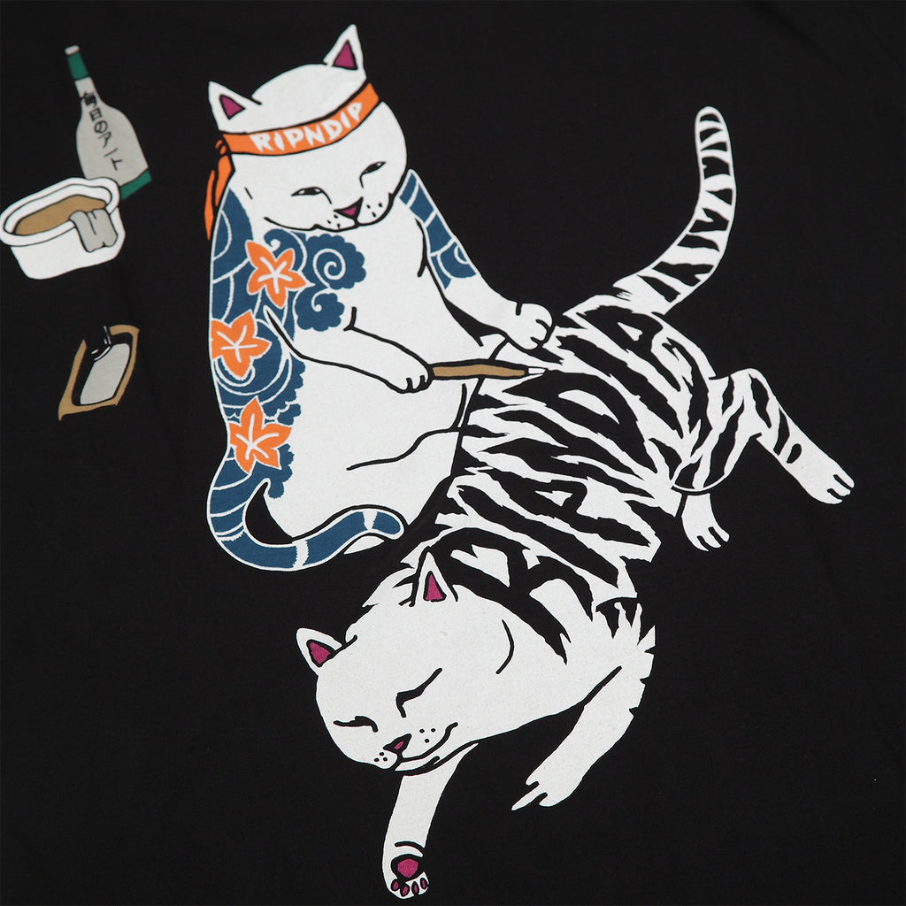 RIPNDIP Tattoo Nermal T Shirt in Black - Back Print