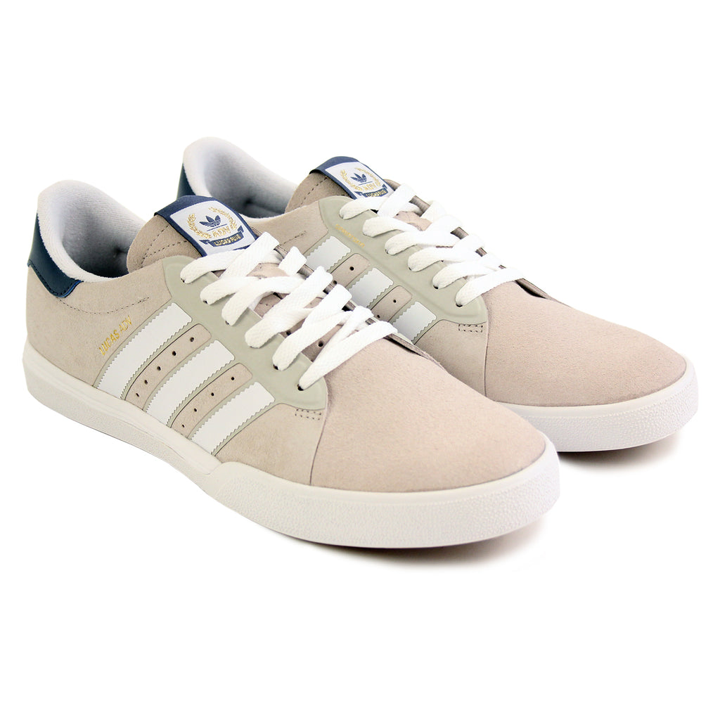 Adidas Skateboarding Lucas ADV Shoes in Footwear White/Mist Stone/Fade Ink - Pair