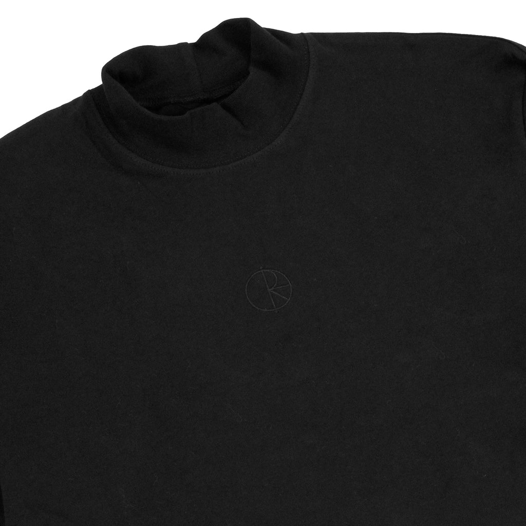 Polar Skate Co Alv Mockneck L/S T Shirt in Black - Detail