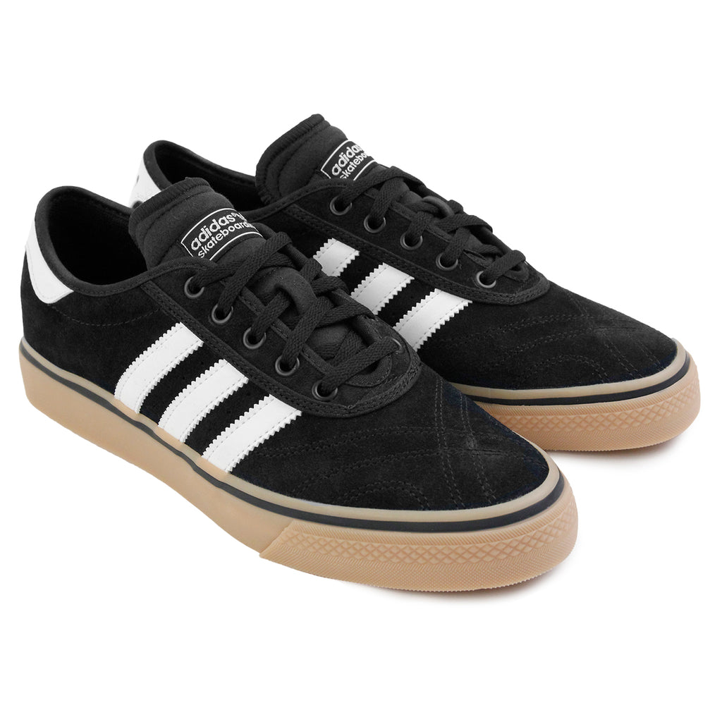 Adidas Skateboarding Adi Ease Premier Shoes in Core Black / FTW White / Gum - Paired