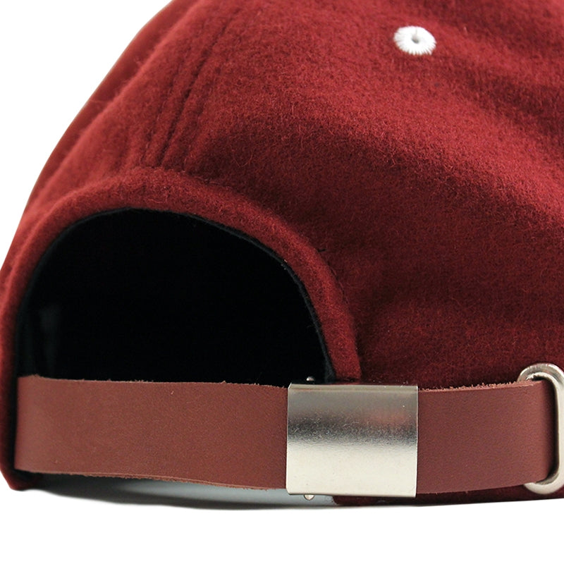 Polar Skate Co PSC 5 Panel Cap in Burgundy - Strap