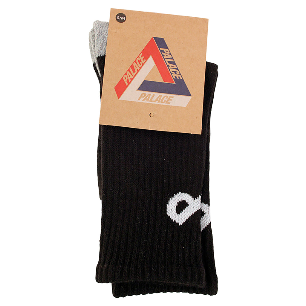 Palace P Allover Socks in Black - Packaging