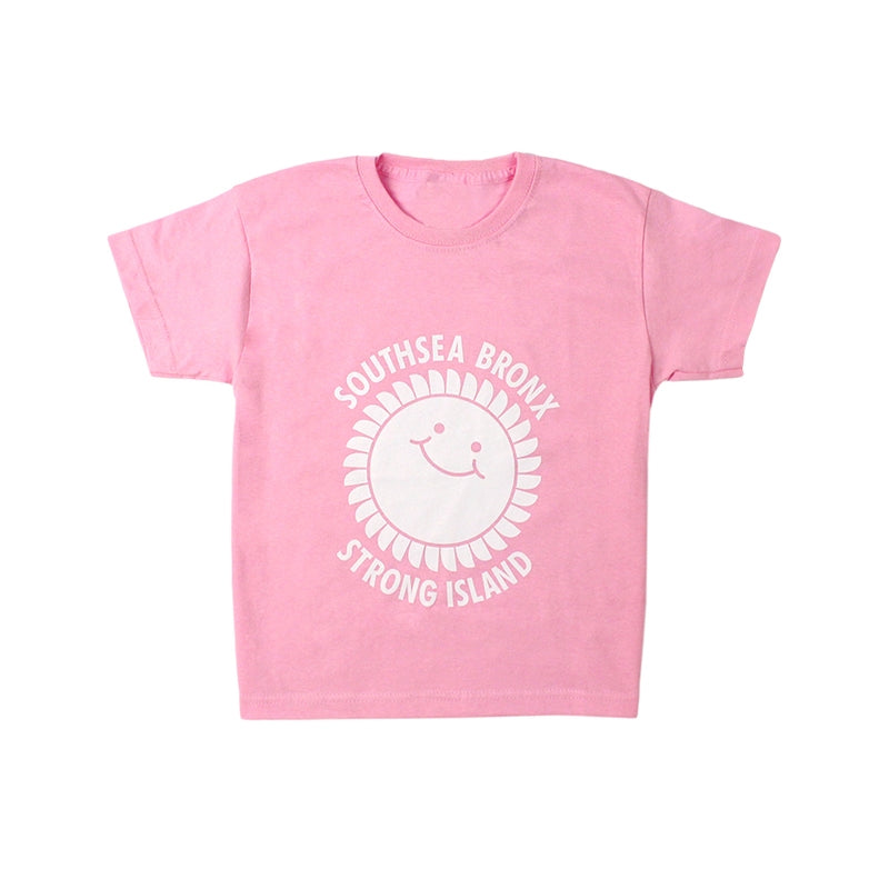Southsea Bronx Strong Island Kids T Shirt in Pink