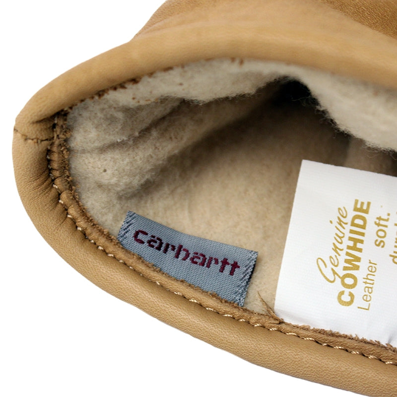 Carhartt WIP Lined Leather Gloves in Camel - Lining