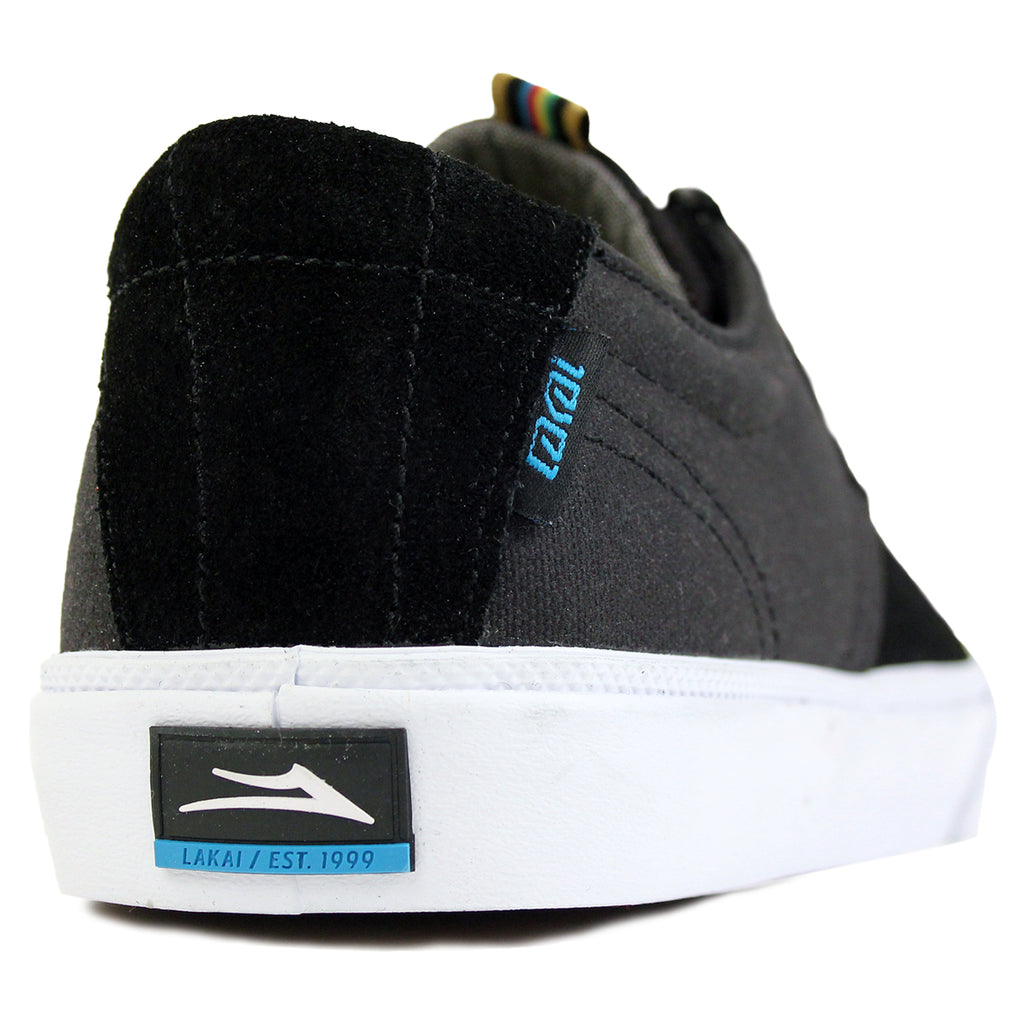 Lakai MJ Stay Flared in Black Suede / White - Heel